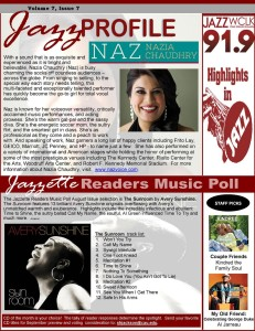 Jazzette Feature, Jazz WCLK 91.9 Newsletter, August 2014, Vol. 7, Issue 7
