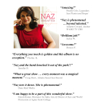 Rave Reviews from Naz's CD Release Party in September 2014